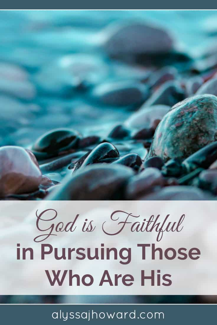 No other god is faithful the way our God is faithful. He reaches out to us with no guarantee that we will reach back towards Him. His goodness and unfailing love pursue us all the days of our lives.
