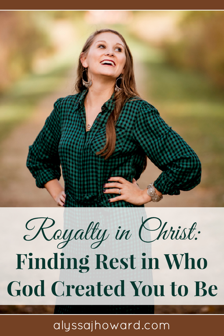 When you begin to see yourself as royalty in Christ, your demeanor changes. You walk differently, talk differently, and most importantly love differently.