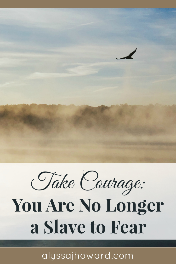 As a child of God, you are no longer a slave to fear. It can no longer dictate your life, rather you can choose to take courage and rest in God's truth.
