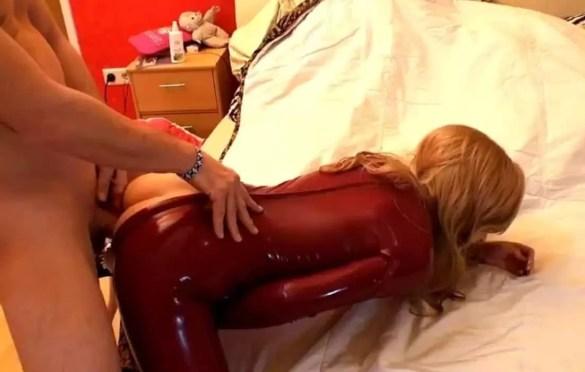 BIGIMAUS RED CATSUIT ANAL