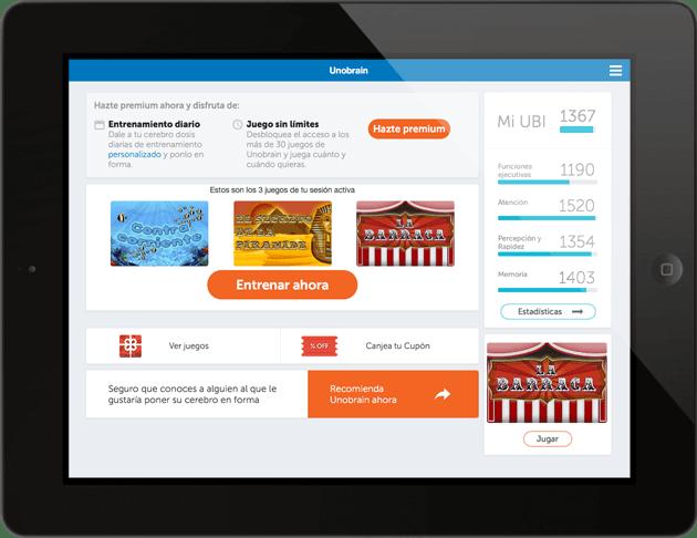 Unobrain APP. Aplicación para iPad e iPhone