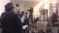 Elba Escobar en otro momento destacado de la grabación