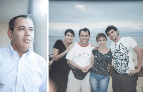 """Hasta que Susana comenzó a olvidar, ella y su familia viajaban juntos para todos lados. En 2009, por ejemplo, fueron a Punta del Este, donde se tomaron esta foto que hoy, tanto Carlos (el marido de Susana, a la izquierda) como sus hijos, atesoran y miran con mucha nostalgia. """"Ese paseo fue justo un año antes de que a Susana le diagnosticaran alzhéimer precoz. Desde entonces, nuestra vida dio un vuelco para siempre"""", cuenta el esposo."""