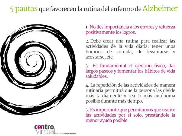 Rutina para personas con alzhéimer.