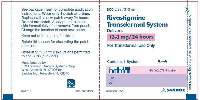 Sandoz, división de genéricos del conjunto Novartis, ha lanzado la nueva dosis de 13,3 mg/24 horas de rivastigmina