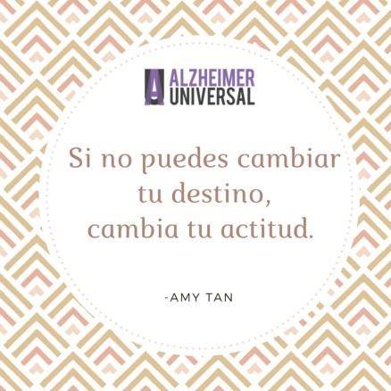 Si no puedes cambiar tu destino, cambiar tu actitud. (1)