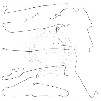 2005 Chevy Silverado 1500 Stainless Steel Brake Line Set 2