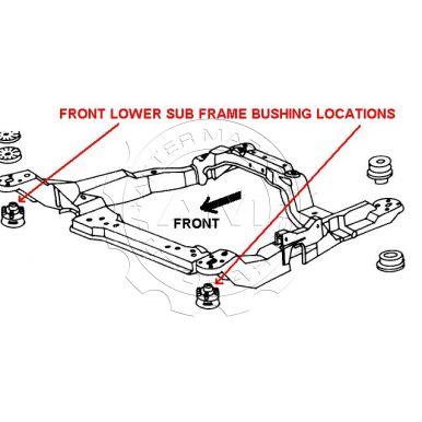 Ford taurus subframe mounts