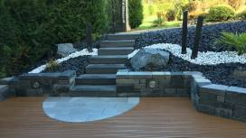 Aménagement d'un accès terrasse par escalier, Epinal