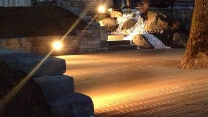 Eclairage terrasse bois et escalier, Epinal