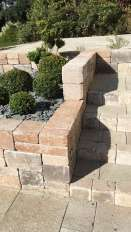 Escalier et muret pierre séche BiMuro, Epinal
