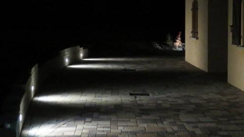 Terrasse avec éclairage integré au muret, Epinal