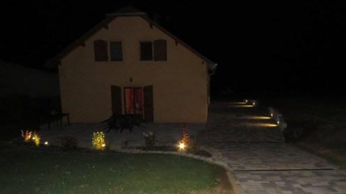 Eclairage terrasse et accès de garage, Epinal