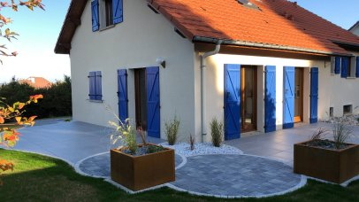 Aménagement de terrasse dalles et pavés