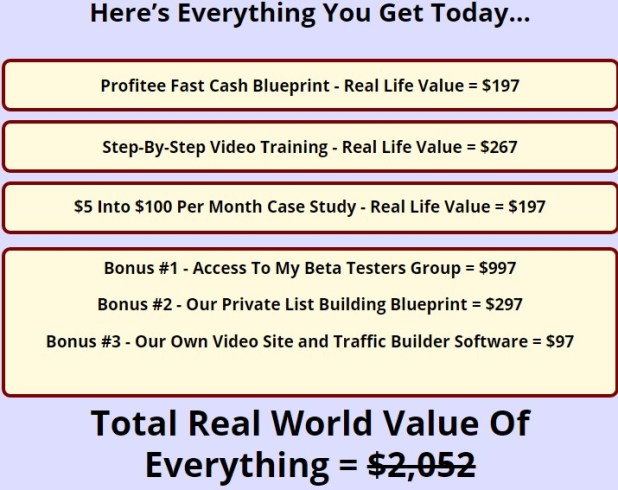 Profitee review 100 honest review and huge bonuses am review profitee malvernweather Image collections