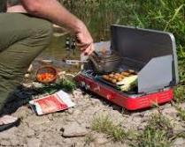cooking food on camp