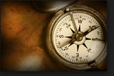 vintage compass, symbolizing direction during market fluctuations