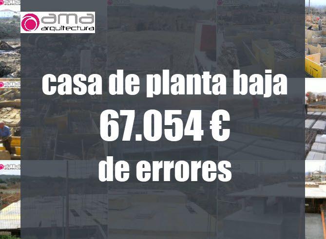 Por qué la construcción de esta casa de planta baja costó 67.054 € de más