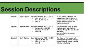 Animato session descriptions