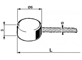 Gaskabels (platte kop)