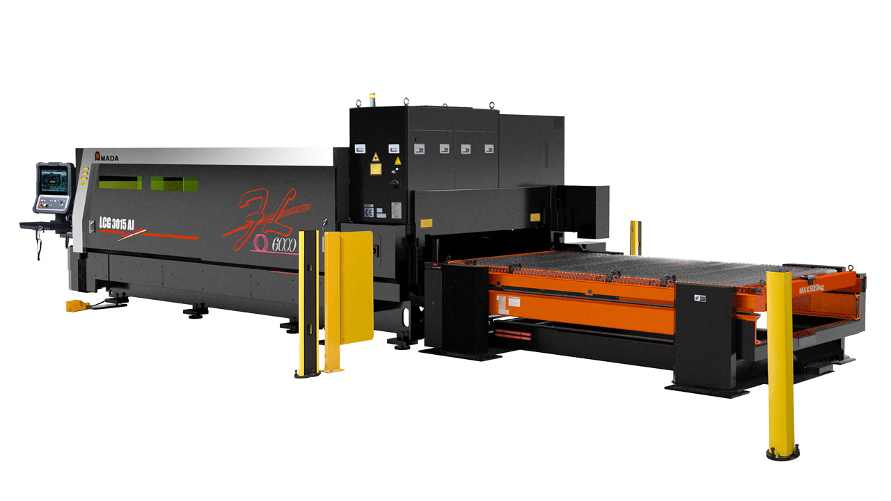 hight resolution of combined with an amada designed oscillator the lcg aj fiber laser cutting machine enhances processing speeds and productivity along with the ability to
