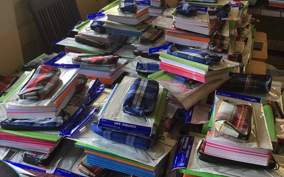 Préparation des kits scolaires 2021-2022