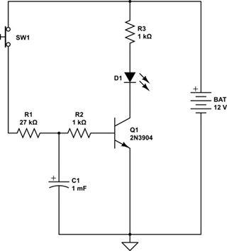 transistor delay-1 ডিলে - transistor delay 1 - ডিলে সার্কিট (প্রজেক্ট ৮)