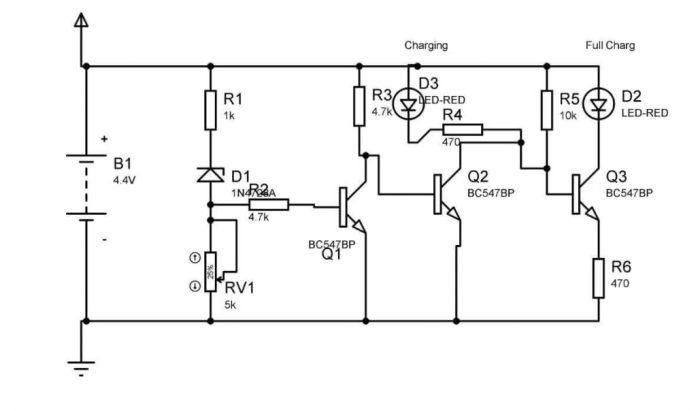 4V ব্যাটারী লেভেল ইন্ডিকেটর সার্কিট