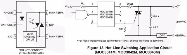 জিরো ক্রসিং ডিটেক্টর সার্কিট (নেট থেকে প্রাপ্ত) ডায়াক - zero crossing detector circuit using MOC IC 1024x304 - ট্রায়াক, ডায়াক পরিচিতি ও ইলেকট্রনিক ফ্যান রেগুলেটরের কার্যপ্রণালী
