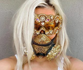 Sequin Masquerade Respirator Mask by plague_chic