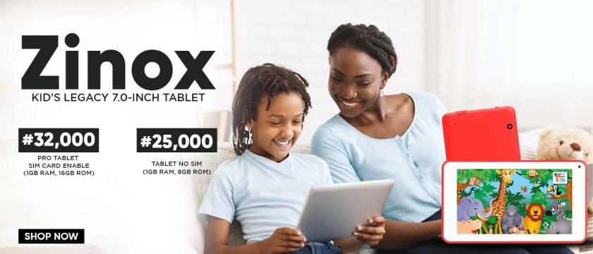 zinox kids tablet