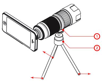 Teleobjetivo Khama de zoom variable para iPhone 5 y 5s