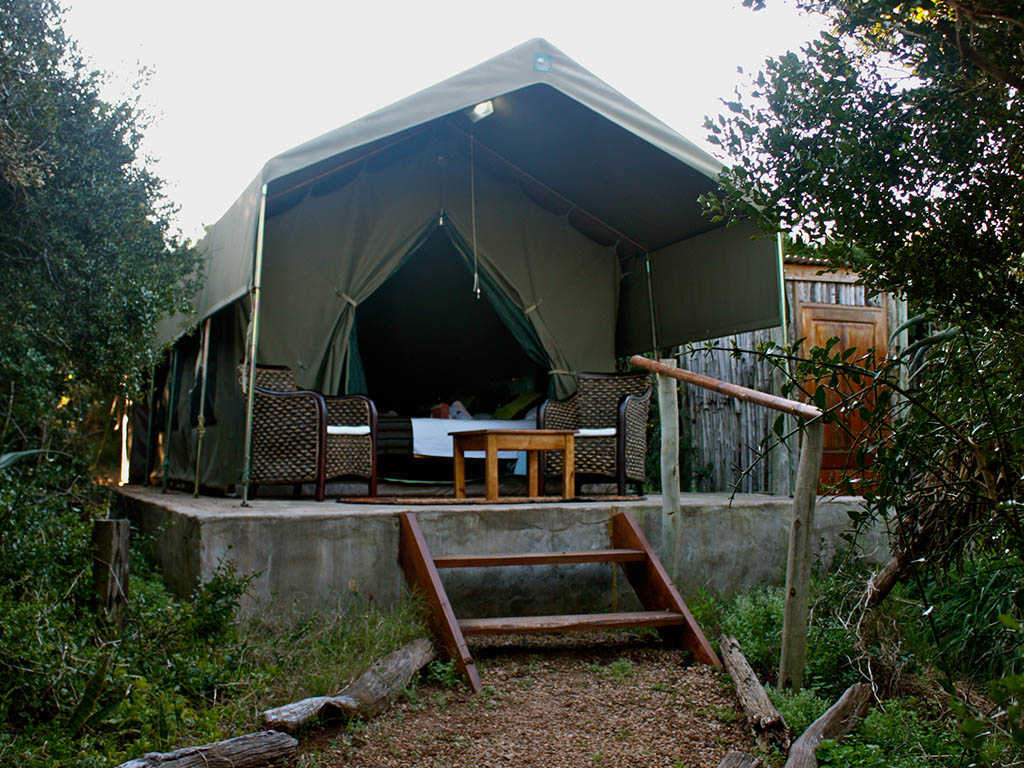 Woodbury Tented Camp  Accommodation   Tent Exterior