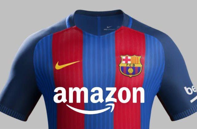 amazon sponsor maglia barcellona