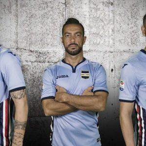 sampdoria terza maglia grigia 2016 2017