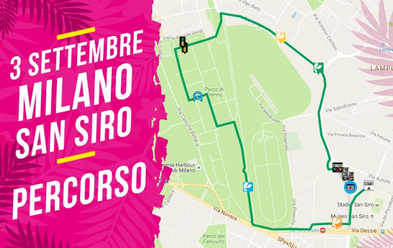percorso Color Run Milano 3 settembre 2016