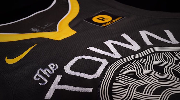 warriors maglia nera the town