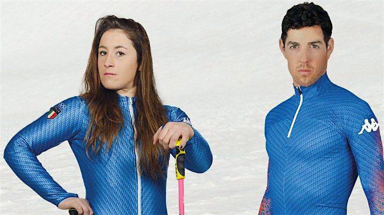 tuta sci italia discesa fondo kappa 2018 olimpiadi