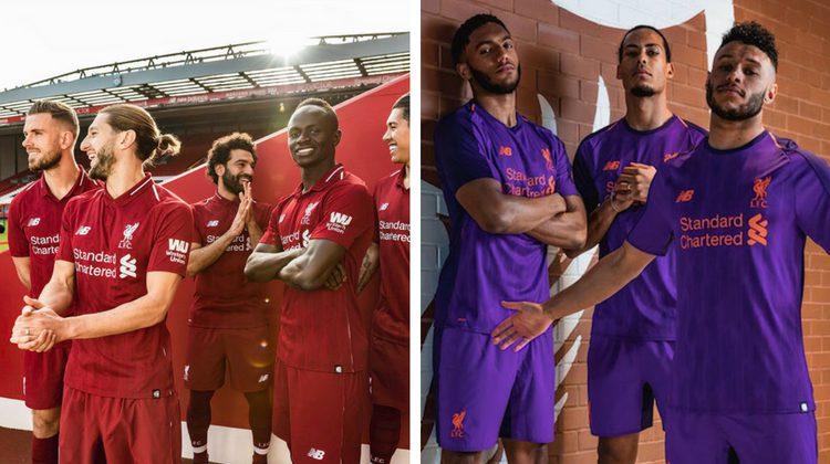 Liverpool home away kit 2018 2019 New Balance