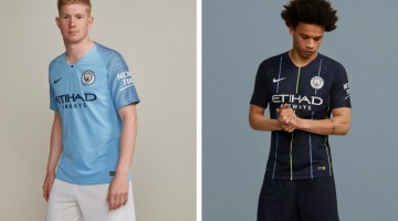 Manchester City home away kit 2018 2019