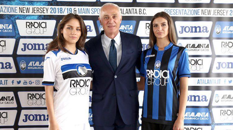 Atalanta home away kit 2018 2019 joma