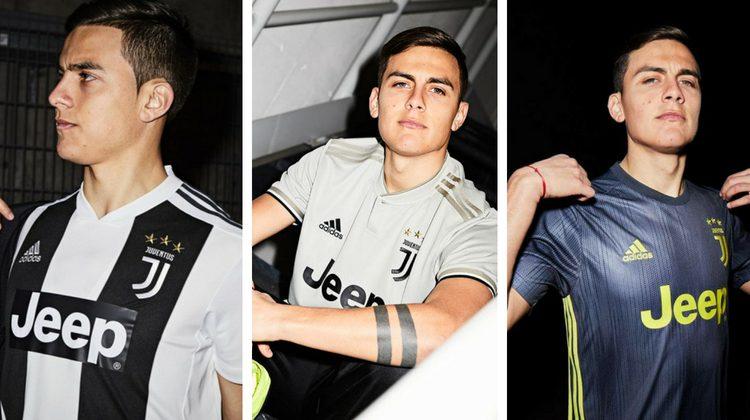 Juve home away third kit 2019