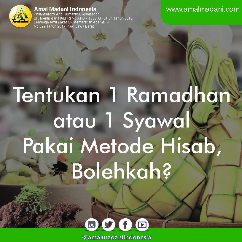 Tentukan 1 Ramadhan atau 1 Syawal Pakai Metode Hisab, Bolehkah?