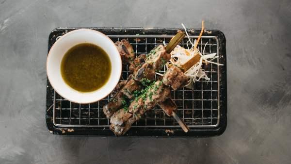 Amami Sushi Lamb Skewer