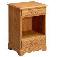 Scalloped Two Drawer Nightstand - Amana Furniture & Clock Shop