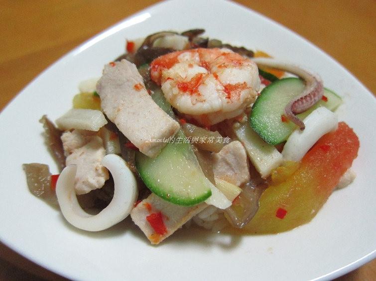 酸辣海鮮燴飯