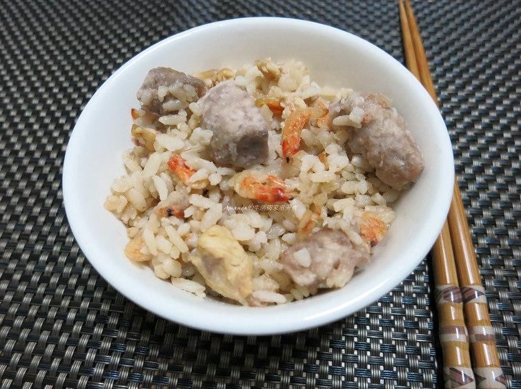 古早味芋頭飯,櫻花蝦,炊飯,芋頭飯,芋頭飯鑄鐵鍋,雜炊,香芋飯 @Amanda生活美食料理