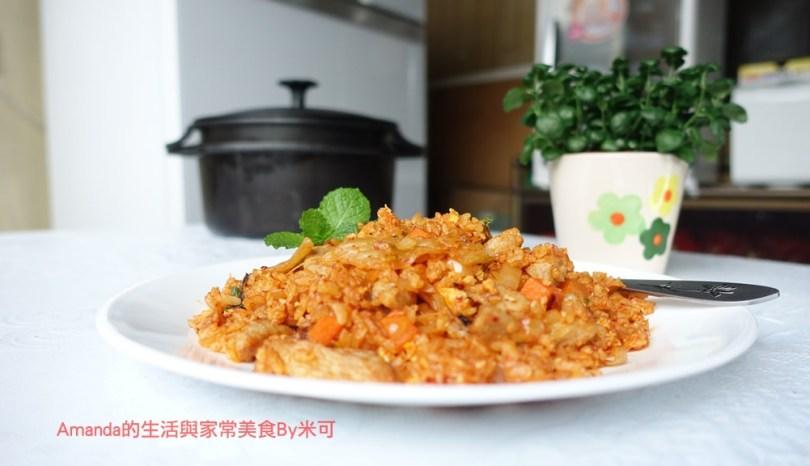 韓式松阪肉泡菜炒飯 -米可實作
