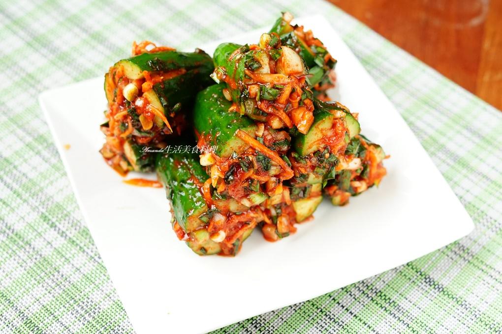 韓式小黃瓜泡菜 -直播教學 – Amanda生活美食料理