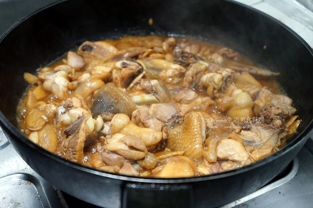 三杯,三杯肉,三杯雞,九層塔,土鍋,無水料理,焦香,砂鍋,米酒,醬油,雞肉,麻油